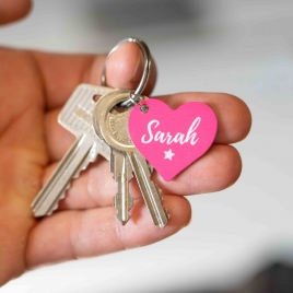 Personalised Metal Heart Keyring