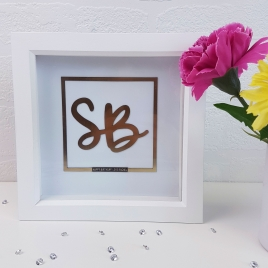 Personalised 'Chrome Effect' Initials Artwork