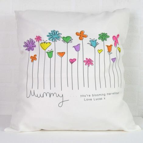 Personalised Flowers Cushion