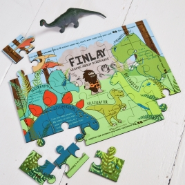 Personalised Wooden Learn About Dinosaurs Puzzle