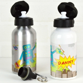 Personalised Robot Water Bottle