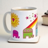 Personalised Elephants Mug