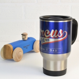 Personalised Retro Style Travel Mug