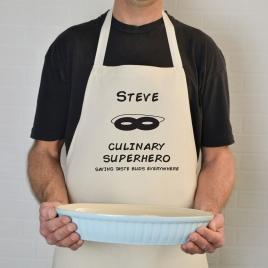 Personalised 'Culinary Super Hero' Apron