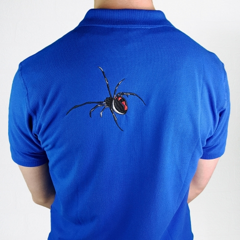 Spooky Embroidered Spider Polo Shirt