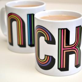 Personalised Funky Stripes Mug