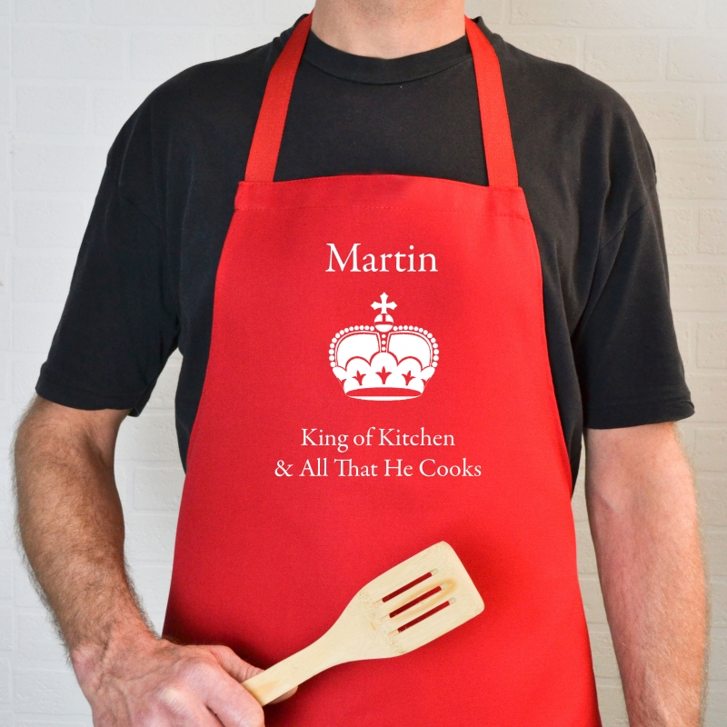 Contemporary Kitchen Baking Chef Cook Mum Dad Gift Idea Name King Queen Princess L211 Personalised Apron Personalised Modern Marble Apron