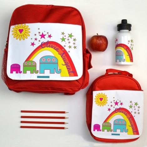 Personalised Back to School Elephant Set