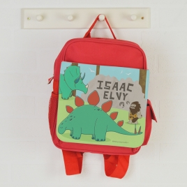 Personalised Dinosaur Backpack
