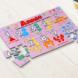 Personalised Colours, Numbers and Shapes Puzzle