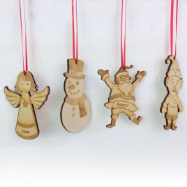 Personalised Christmas Tree Decoration Set