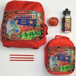 Personalised Back to School Graffiti Set