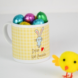 Personalised Easter Mug with Chocolate Eggs