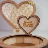 Personalised Wedding Heart Drop Frame