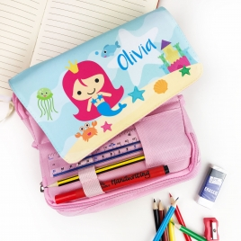 Personalised Mermaid Pencil Case