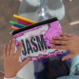 Personalised Sequin Pencil Case / Make Up Bag