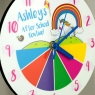 Personalised Childs Clock And Schedule Planner Set